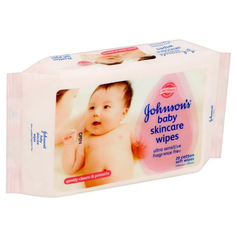 Johnsons Baby Skincare Wipes Fragrance Free 20S / 75S