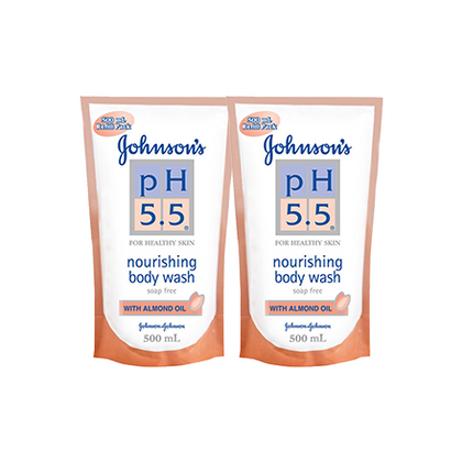 Johnson's Ph5.5 Nourishing Body Wash 2-In-1 500ml / 500ml x 2