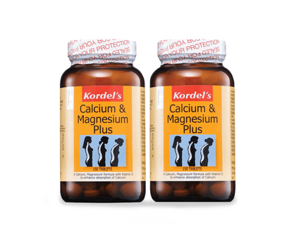 Kordels Calcium & Magnesium Plus 2 X 150 Tablets Healthcare Supplements