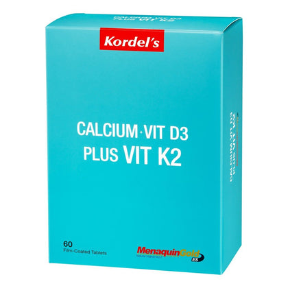 Kordels Calcium + Vitamin D3 Plus K2 60 Tablets Healthcare & Supplements