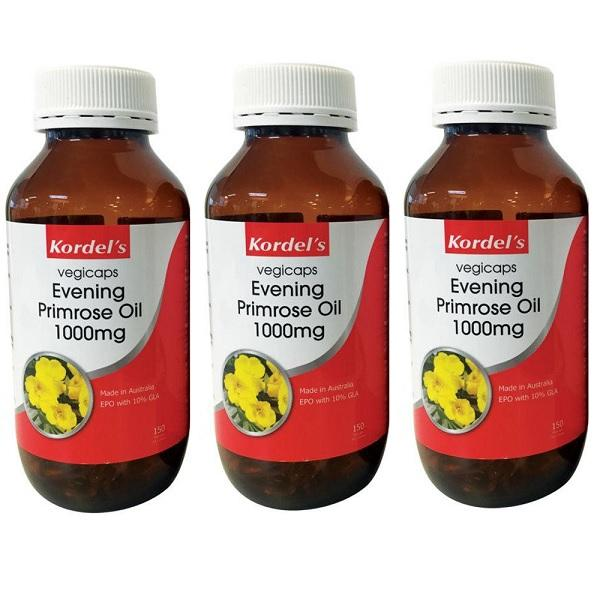 Kordels Evening Primrose Oil 1000Mg 3 X 100 Capsules Healthcare & Supplements
