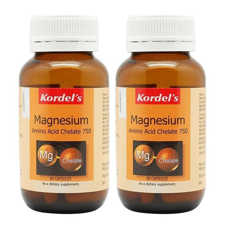 Kordels Magnesium Amino Acid Chelate 750Mg 2 X 60 Capsules Healthcare & Supplements
