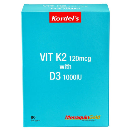 Kordels Vit K2 120Mcg With D3 1000Iu 60 Softgel Healthcare & Supplements