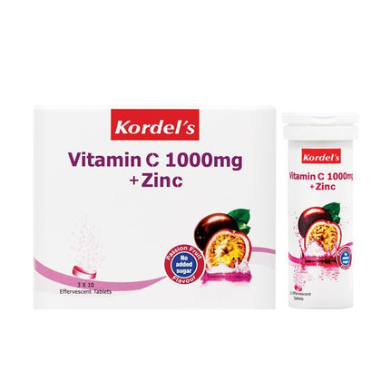Kordels Vitamin C 1000Mg + Zinc Passion Fruit 10S X 3