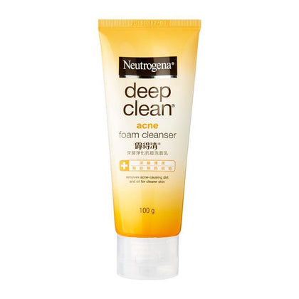 Neutrogena Deep Clean Acne Foam Cleanser 100G Skin Care