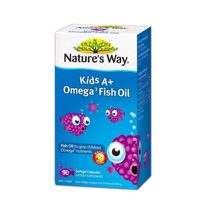 Natures Way Kids A+ Omega-3 Fish Oil 90 Capsules Vitamin C