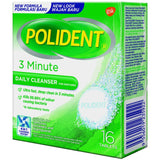 Polident 3 Minute Daily Cleanser 16s