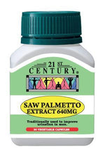 21st Century Saw Palmetto Extract 640mg 30 Capsules