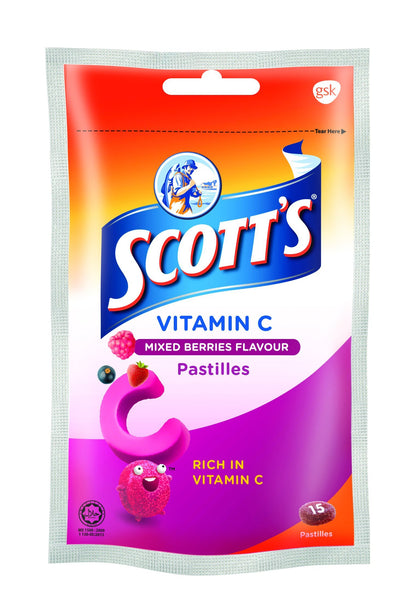 Scotts Vitamin C Mixed Berries 15S (Zipper Pack)