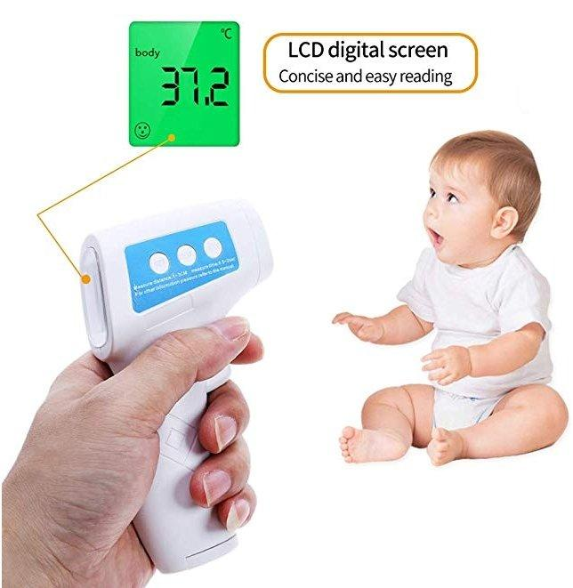 Ready Stock - Non-Contact Thermometer Baby/Adult Temperature / Forehead Digital Infrared Thermometer Portable