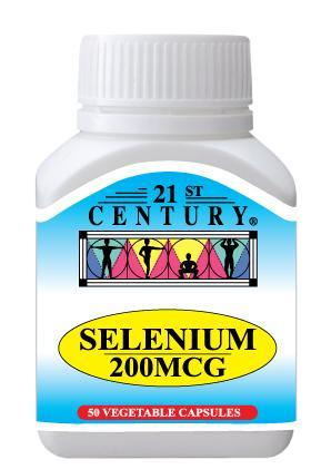 21St Century Selenium 200Mcg 50 Capsules Healthcare & Supplements