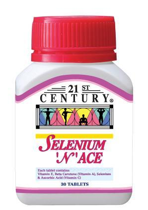 21St Century Selenium N Ace 30 Tablets Healthcare & Supplements