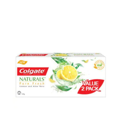 Colgate Naturals Pure Fresh Lemon And Aloe Vera Toothpaste 120G X 2