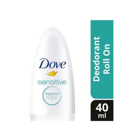 Dove Sensitive Fragrance Free Deodorant Roll On 40Ml