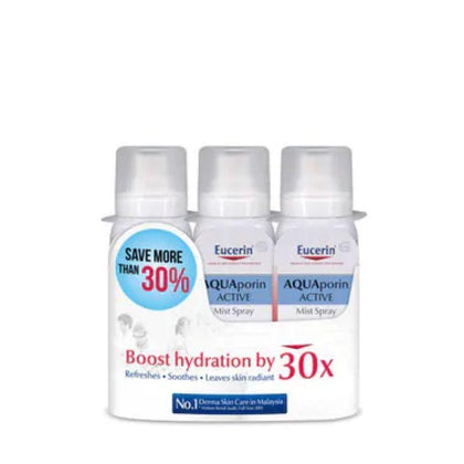 Eucerin Aquaporin Active Mist Spray 50Ml X 3