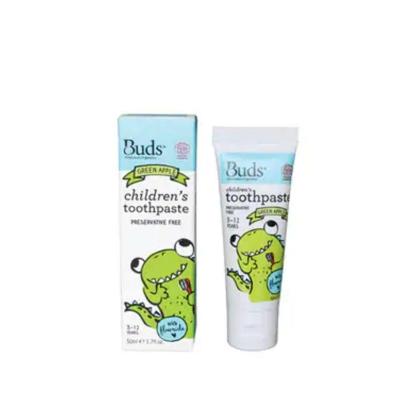 Buds Children Toothpaste FLR Green Apple 50ml