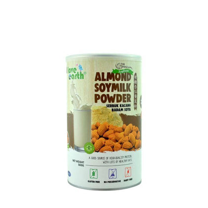 Love Earth Organic Almond Soymilk Powder 500G