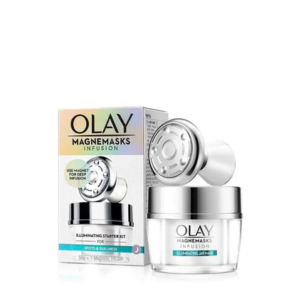 Olay Magnemasks Infusion Illuminating Jar Mask Starter Kit 50G