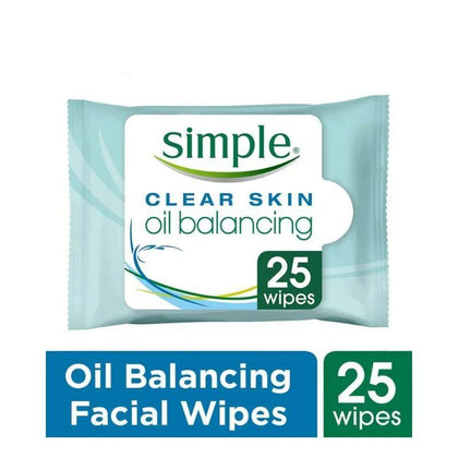 Simple Oil Balancing Cleansing Wipes 25S