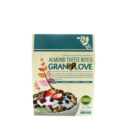 Love Earth Almond Toffee Bites! Granolove 300G
