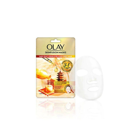Olay Skinfusion Sake Yeast Facial Mask 1S