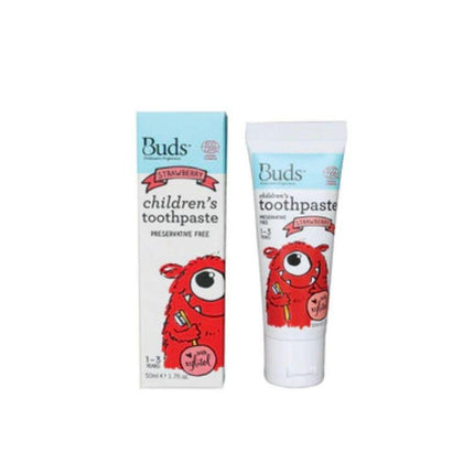 Buds Children Toothpaste Xyl Strawberry 50Ml