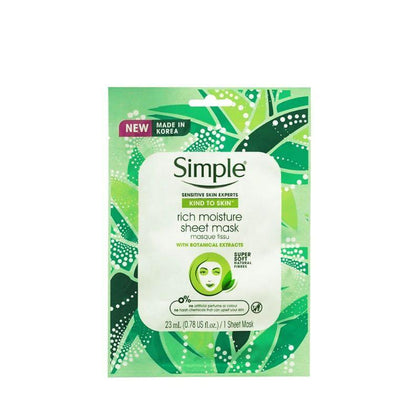 Simple Rich Moisture Botanic Mask 1S