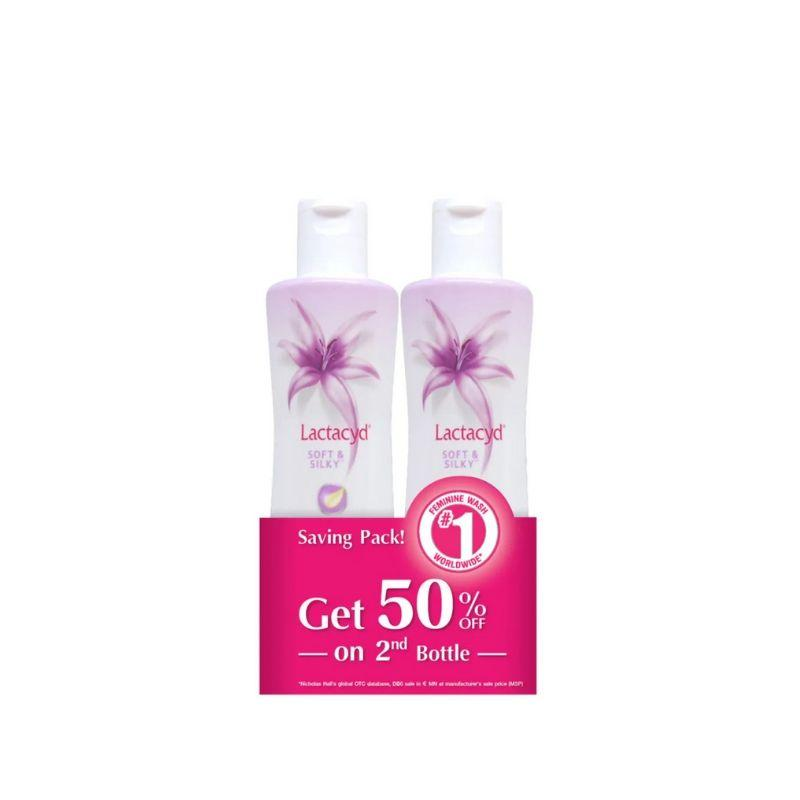 Lactacyd Feminine Wash Soft & Silky 2 X 250Ml
