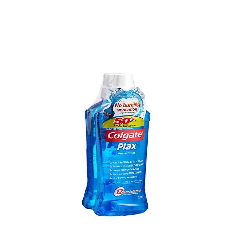 Colgate Plax Mouthwash Peppermint 750Ml X 2