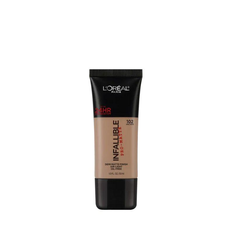 Loreal Infallible Liquid Foundation 102 Shell Beige 30Ml