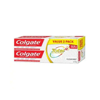 Colgate Total Clean Mint Toothpaste 150G X 2