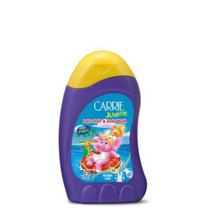 Carrie Junior Baby Hair & Body Wash Double Milk 280ml