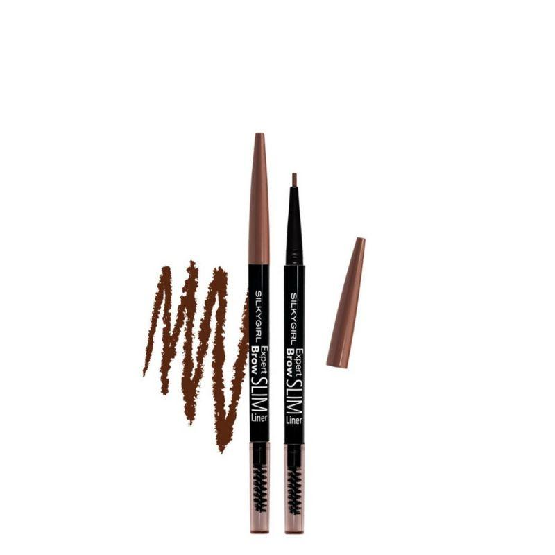 Silkygirl Expert Brow Slim Liner 02 Dark Brown 1S