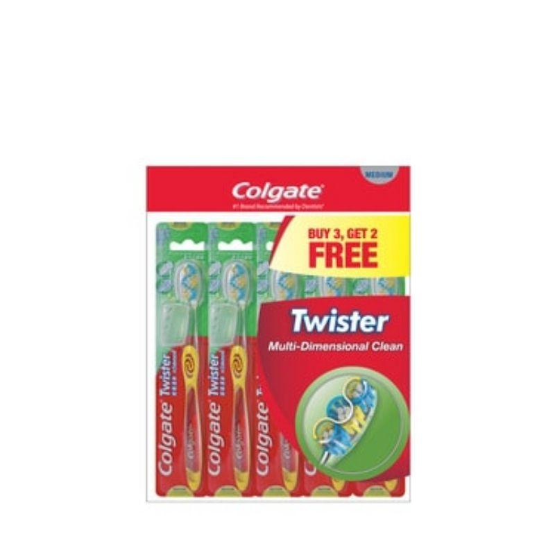 Colgate Twister Fresh Medium Toothbrush Buy 3 Free 2