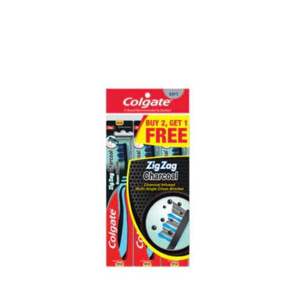 Colgate Zigzag Charcoal Toothbrush Buy 2 Free 1