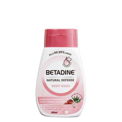 Betadine Natural Defense Body Wash Pomegranate 200ml