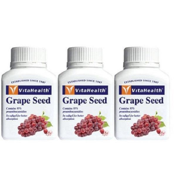 Vitahealth Grape Seed Extract 100Mg 3 X 90 Capsules Healthcare & Supplements