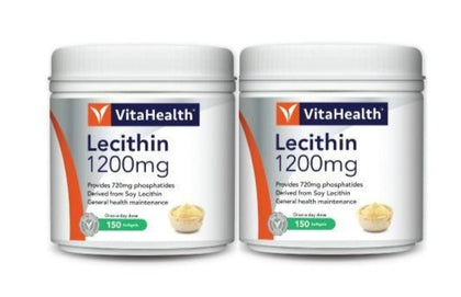 Vitahealth Lecithin 1200Mg 2 X 100 Softgels Healthcare & Supplements