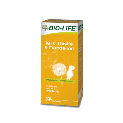 Bio-Life Milk Thistle & Dandelion 516.46Mg 100 Tablets Healthcare Supplements