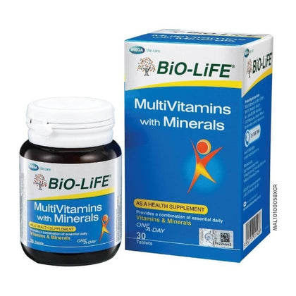 Bio-Life Multivitamin With Minerals 30 Tablets