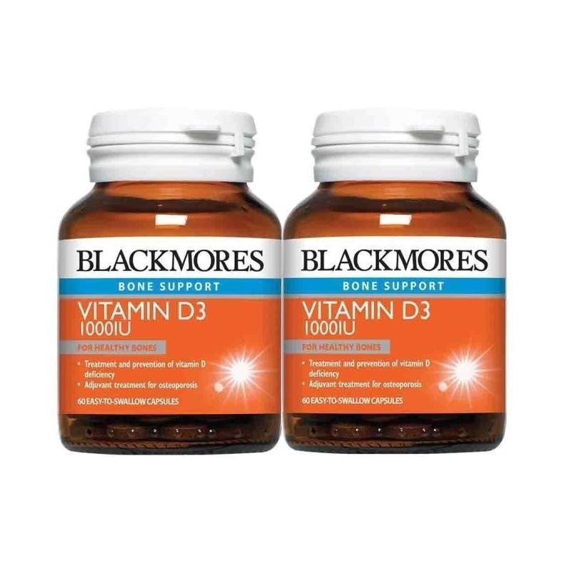 Blackmores Bone Support Vitamin D3 1000IU 60 / 60 x 2 Capsules