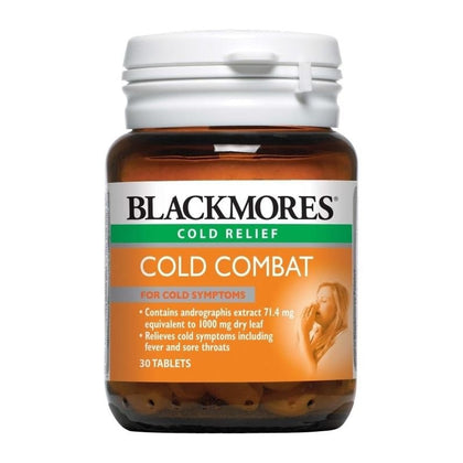 Blackmores Cold Combat 30 Tablets