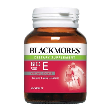 Blackmores Dietary Supplement Bio E 500IU 30 / 60 / 60 x 2 Capsules