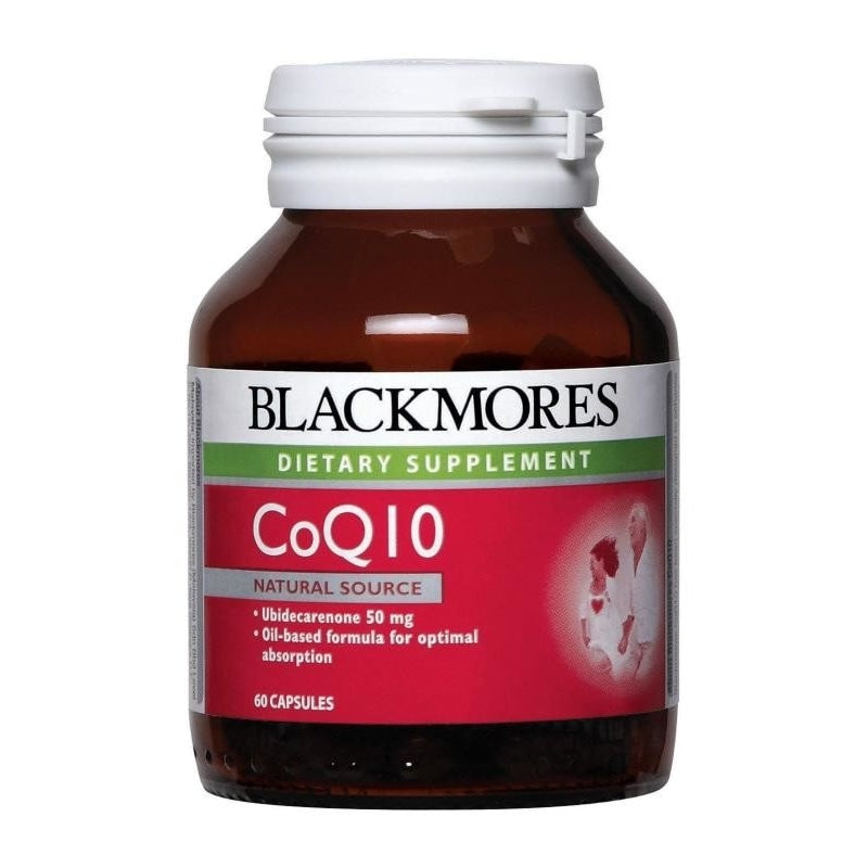 Blackmores Dietary Supplement CoQ10 50mg 30 / 60 / 60 x 2 Capsules