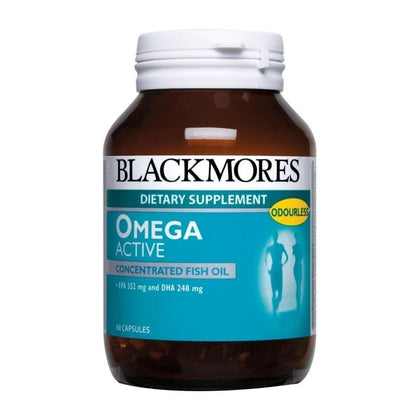 Blackmores Dietary Supplement Omega Active Concentrated Fish Oil 60 / 60 x 2 Capsules