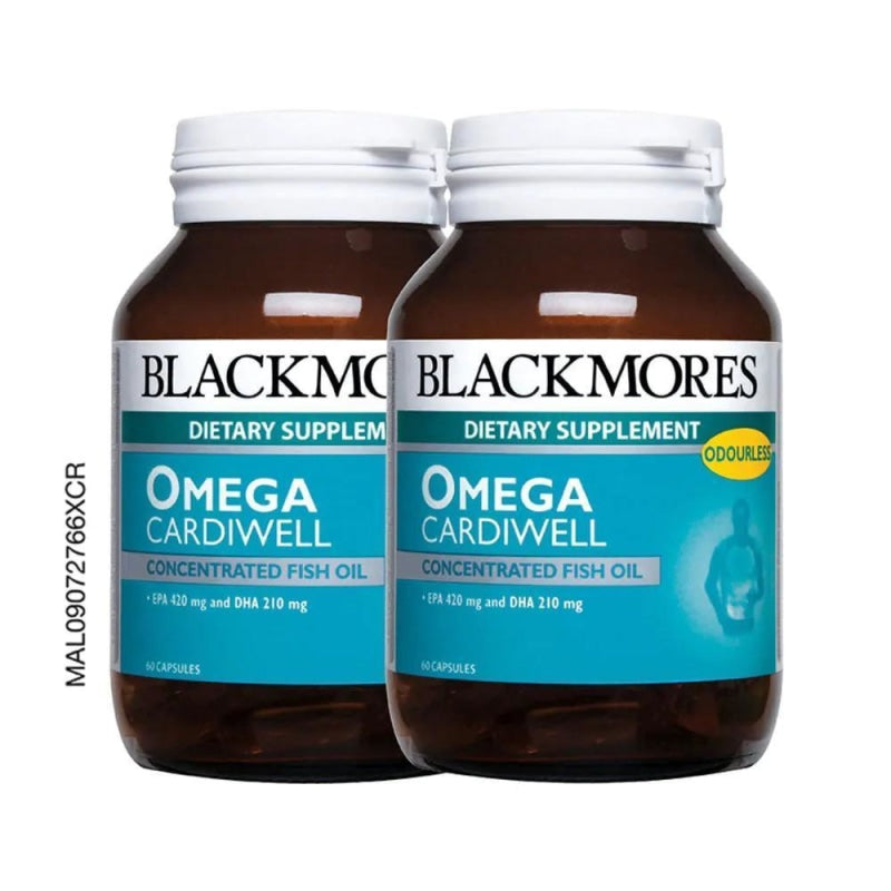 Blackmores Dietary Supplement Omega Cardiwell Concentrated Fish Oil 60 / 60 x 2 Capsules