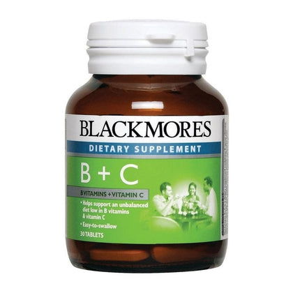 Blackmores Dietary Supplement Vitamin B + C 30 / 120 Tablets