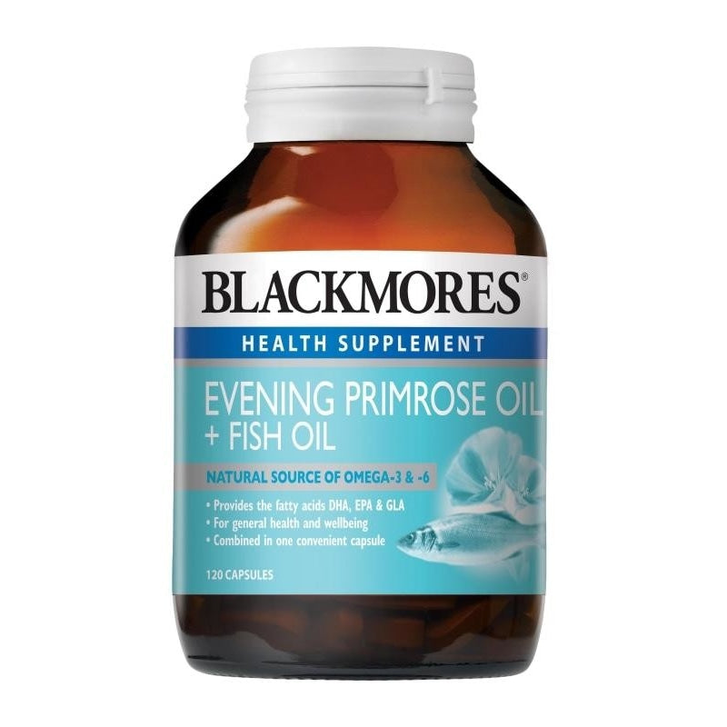 Blackmores Health Supplement Evening Primrose Oil + Fish Oil 30 / 120 / 120 x 2 Capsules