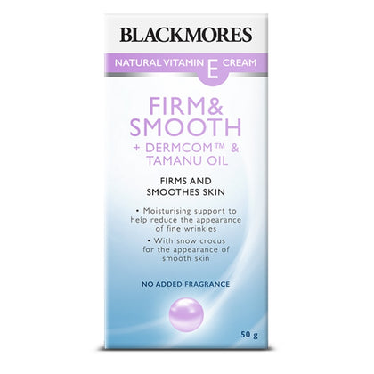 Blackmores Natural Vitamin E Cream Firm & Smooth 50g