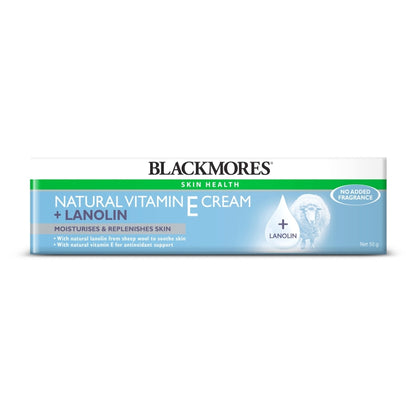 Blackmores Natural Vitamin E Cream + Lanolin 50G Healthcare & Supplements